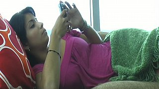 Young Latina doing herself