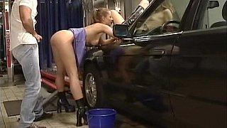 A car wash by two cute teens