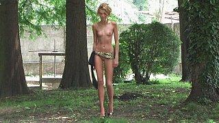 Long legged tall beauty posing