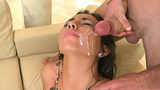 Facial cumshot after a good fuck