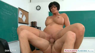 MILF in glasses Shay Fox fuck in class