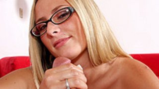 Page Adams Provides A Sterling Handjob