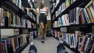 Blowjob in Library