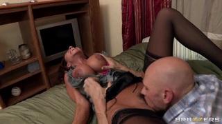 Ariella Ferrera with big boobs licked by Johnny Sins