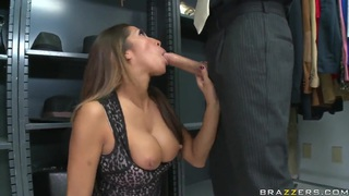 Amazing pornstar Kayla Carrera sucks Mick's huge cock