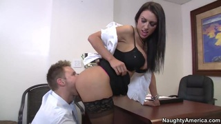 Busty whore J Love gets nailed by Levi Cash