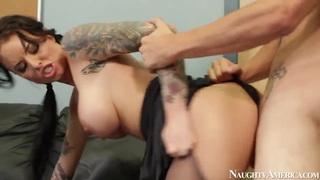 Hot and arousing Christy Mack seduces Tyler Nixon