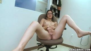 Kandi Milan loves sucking big dongs well