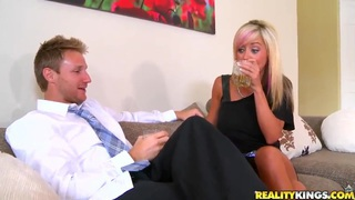 Beautiful mom was picked up at a bar and fucked hard at home