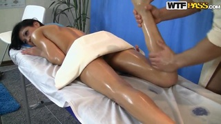 Young oiled hot ass Lerok gets massaged