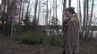 Evelina Juliet in hot couple fucking while in the outdoors