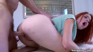 Redhead Latina with Pink Nipples Takes A...