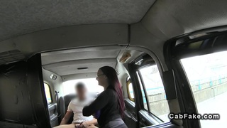 Huge tittied redhead banged in public in a cab