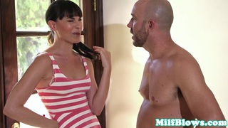 blowjob neighbor milf comes over for bj
