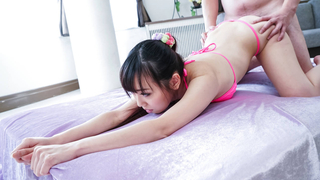 Young Japanese beauty been craving for a creampie