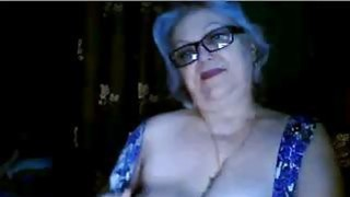 Punky Granny playing with my big boobs