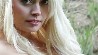 very cute blonde with hard nipples