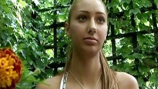 Nice teen fucked outdoor for model job