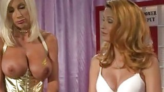 Big boobed blonde lezzies fuck ahrd at Alfred Hitchdick show