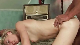 Very old grandpa loves hot mature woman
