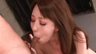 Akari Asagiri makes magic with her warm Asian lips