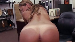 Cute waitress pawns her muff and fucked