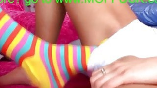 Hot lesbian feet fetish sex