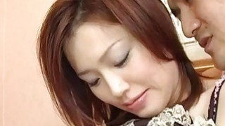 Yui Matsuno licks and sucks penis before fuck