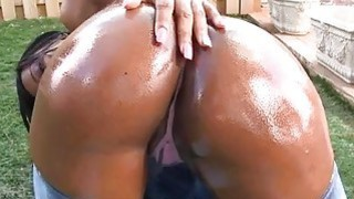 Babe acquires wild doggystyle after wet irrumation