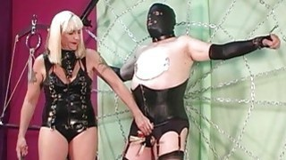 Sub disciplined with clothespins and crop