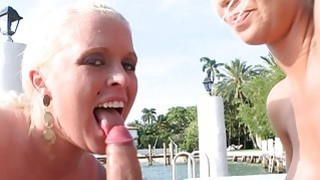 Nicole Aniston double blowjob