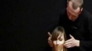 Tormenting my new slave with wax and clothespins