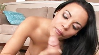 Beauty is delighting boy with a racy cock chowdown
