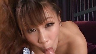 Charming japanese acquires tits mashing and toying