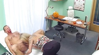 Hot blonde rode cock in fake hospital