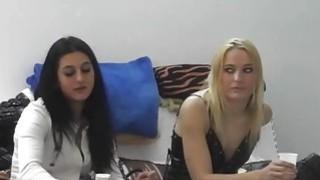 Czech girls having fun in backstage