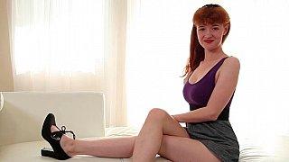 Adorable princess enjoy sensual time on her bed