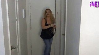 Whitney & Nixon female pee desperation wetting jeans