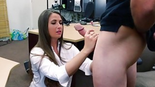 Pretty babe pounded by nasty pawn keeper