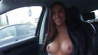 Amateur Eurobabe flashes her big tits and boned