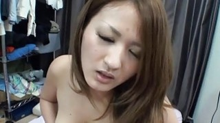 Japanese arouses with oral job and tits fucking