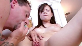 Alison Rey rides her step dads big cock on top