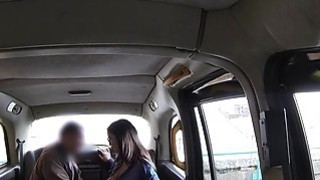 Perfect booty Brit bangs in fake taxi