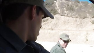 Redhead Babe Fucked By Border Patrol Agent