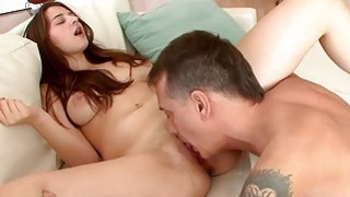 Elektra Rose hop on a big matured cock and rode her step dad