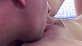 Gia Paige sucking her step dads big cock deep throat