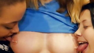 Sultry blonde babe with big tits drilled in the toilet
