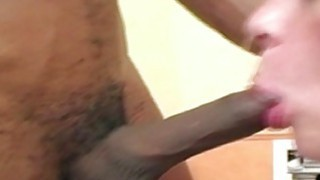 A chubby amateur takes a black cock deep in her ass