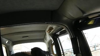 Huge juggs passenger gets her pussy drilled in the cab