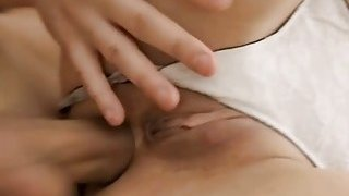 Legal age teenager hotty tries to suck and ride